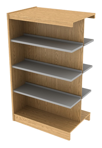 Library Shelving Wood, Item Number 1303228