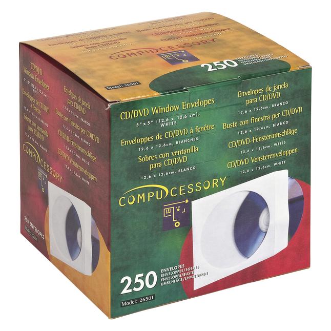 CD Sleeves, DVD Sleeves, Paper CD Sleeves Supplies, Item Number 1308963