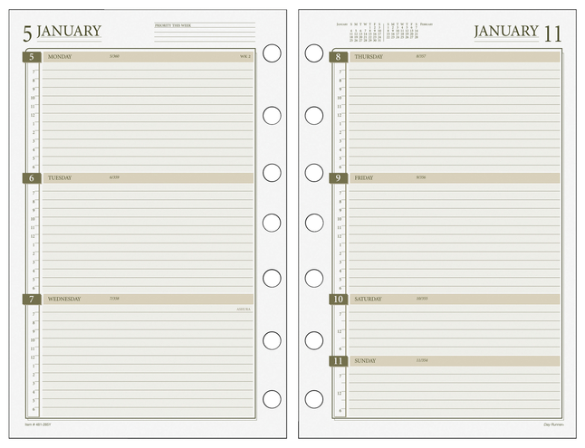 Planner Refills and Calendar Refills, Item Number 1309656