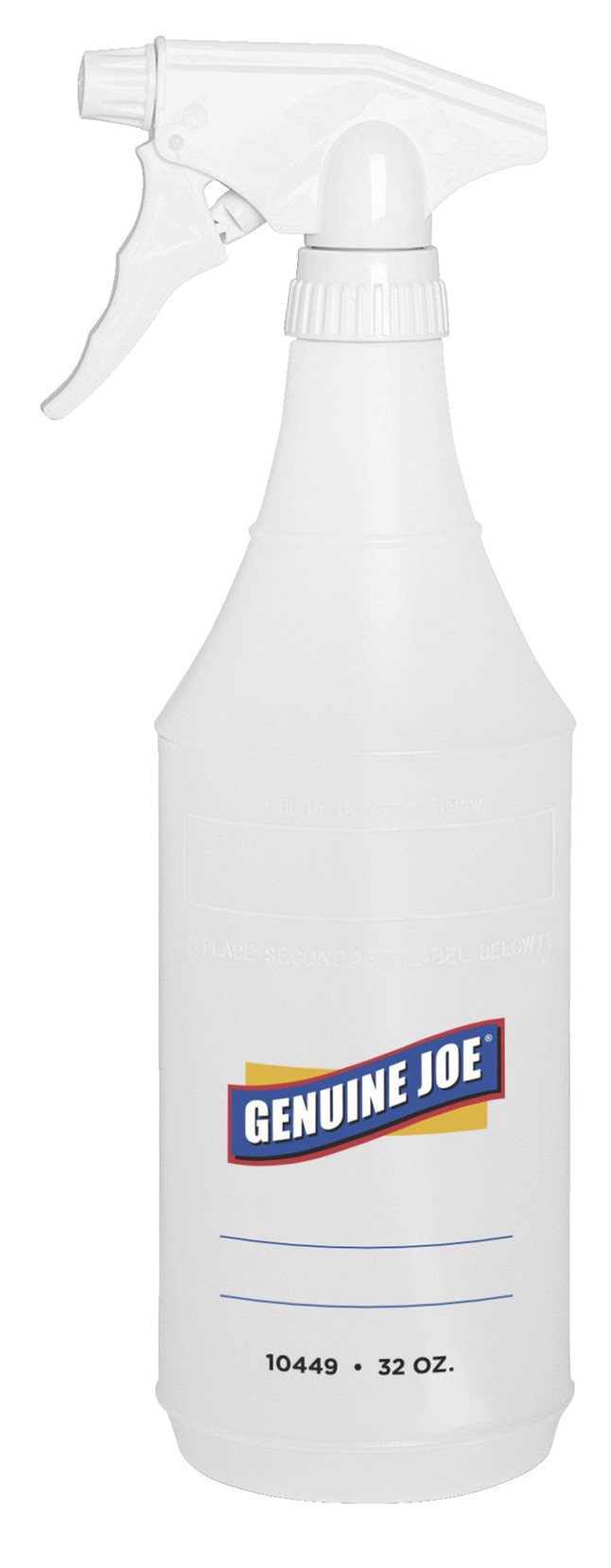 Genuine Joe Spray Bottle with Trigger Adjustable Spray, Item Number 1310451