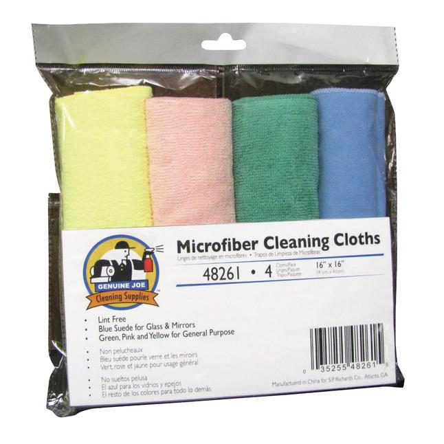 Genuine Joe General Purpose Microfiber Cleaning Cloth, Item Number 1310481