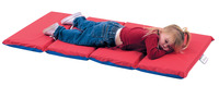 Angeles 4-Fold Nap Mat 2 Inch, 24 x 48 x 2 Inches, Red/Blue Item Number 1359971