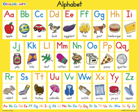Childcraft Student Sized English Alphabet Charts, 11 x 9 Inches, Set of 25 Item Number 1319170