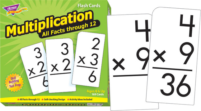 Trend Flash Cards Multiplication All Facts Through 12, Set of 169