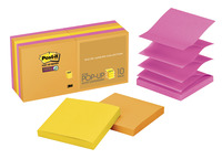 Post-it Sticky Pop-Up Notes, 3 x 3 Inches, Rio De Janeiro Colors, 10 Pads with 90 Sheets Item Number 1327808