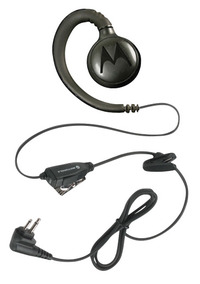 Motorola RLN6423A Swivel Earpiece with Push-to-Talk Mic, Black Item Number 1334603