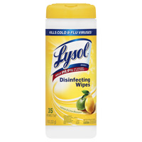 Lysol Lemon & Lime Blossom Scent Disinfecting Wipes, 35 Count, Case of 12 Item Number 1334840