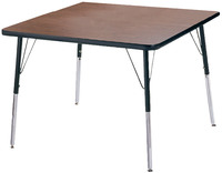 Classroom Select T-Mold Activity Table, Square, Adjustable Height, 48 x 48 Inches, Various Options Item Number 1334863