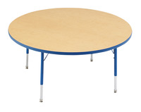Classroom Select T-Mold Activity Table, Round, Adjustable Height, 48 Inches, Various Options Item Number 1334862
