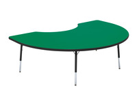 Classroom Select T-Mold Activity Table, Kidney, Adjustable Height, 72 x 48 Inches, Various Option Item Number 1334865