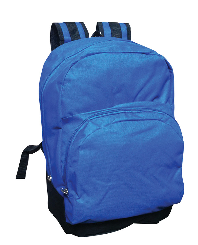 e8ba1670e3ac School Smart 1-Pocket Backpack with Front Pocket Organizer and Hidden  Pouch, 17.3 X 12.4 X 6 in, Polyester, Blue