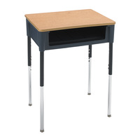 Classroom Select Contemporary Open Front Desk, 18 x 24 Inch Laminate Top, Various Options Item Number 1357327
