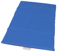 Angeles 4-Fold Nap Mat 1 Inch, 24 x 48 x 1 Inches, Red/Blue Item Number 1359970