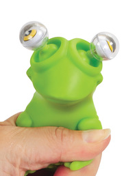 Warm Fuzzy Toys Poppin' Peeper Frog Fidget Toy, 3 Inches Item Number 1361959