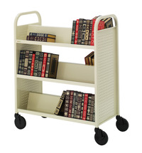 Bretford Double Sided Steel Book Utility Truck, 6 Shelves, 36 x 18 x 44 Inches, Various Options Item Number 1362498