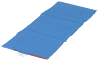 Angeles 3-Fold Nap Mat, 45 x 19 x 3/4 Inches, Red/Blue Item Number 1363323