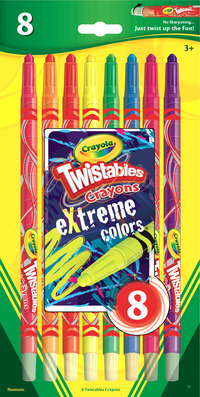 Crayola Twistables Non-Toxic Crayon Set, Assorted Extreme Color, Set of 8 Item Number 1364571