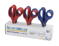 Fiskars Schoolworks Pointed Scissors Classroom Pack with Rack, 5 Inches, 13 Pieces Item Number