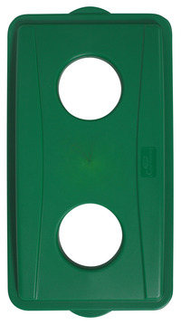 Continental Wall Hugger Recycle Lid with Holes, Green Item Number 1370031
