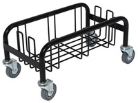Continental Wall Hugger Receptacle Single Dolly, Black Item Number 1370033