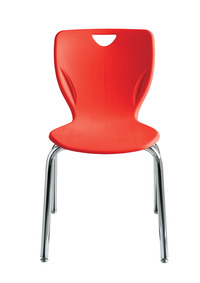 Classroom Select Contemporary Chair, 18 Inch A+ Seat Height, Chrome Frame, Various Options Item Number 1357322