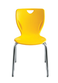 Classroom Select Contemporary Chair, 18 Inch Seat Height, Chrome Frame, Various Options Item Number 1357323