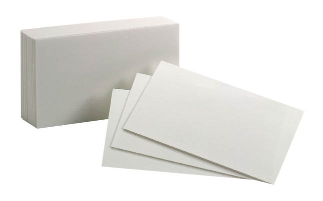 3x5 Blank Index Cards, Item Number 1380617