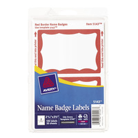 Name Badge Labels, Item Number 1380621