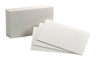 3X5 Ruled Index Cards, Item Number 1380684