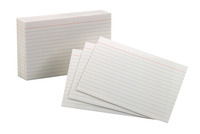 4x6 Ruled Index Cards, Item Number 1380685