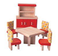 Plantoys Colorful Furniture Dining Room Set Item Number 1382432
