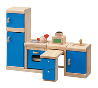 Plantoys Dollhouse Furniture Kitchen Set, 6 Pieces Item Number 1382436
