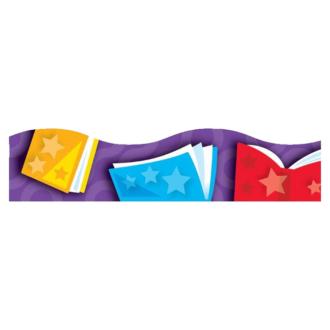 Trend Enterprises Bright Books Terrific Trimmer Set of 12 2-1//4 x 39 Inches