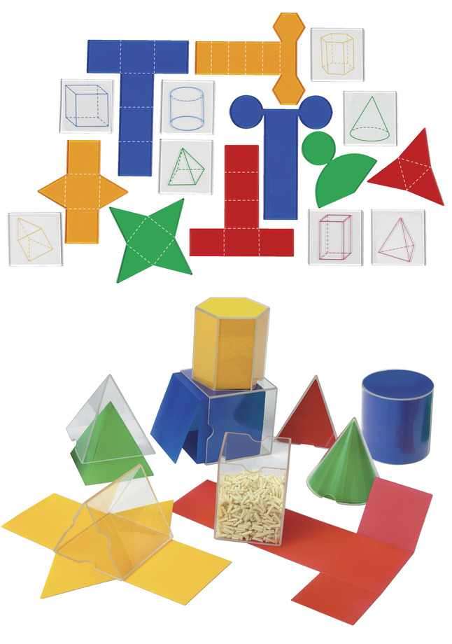 Learning Resources Folding Geometric Shapes Combo Set, 32 Pieces