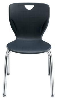 Classroom Select Contemporary Chair, 14 Inch Seat Height, Chrome Frame, Various Options Item Number 1357325