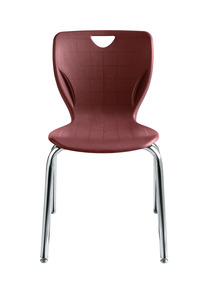 Classroom Select Contemporary Chair, 16 Inch Seat Height, Chrome Frame, Various Options Item Number 1357324
