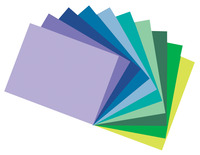 Tru-Ray Sulphite Construction Paper, 12 x 18 Inches, Assorted Cool Color, Pack of 50 Item Number 1398063