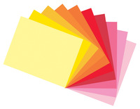 Tru-Ray Sulphite Construction Paper, 12 x 18 Inches, Assorted Warm Color, Pack of 50 Item Number 1398065