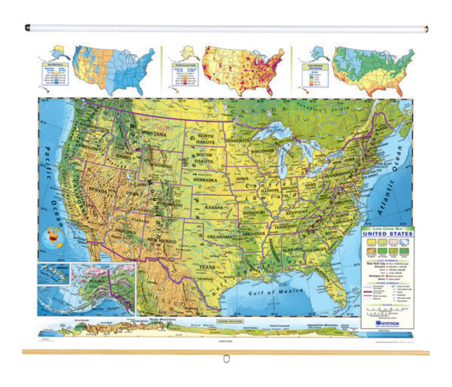 Nystrom Land Cover United States Roller Map