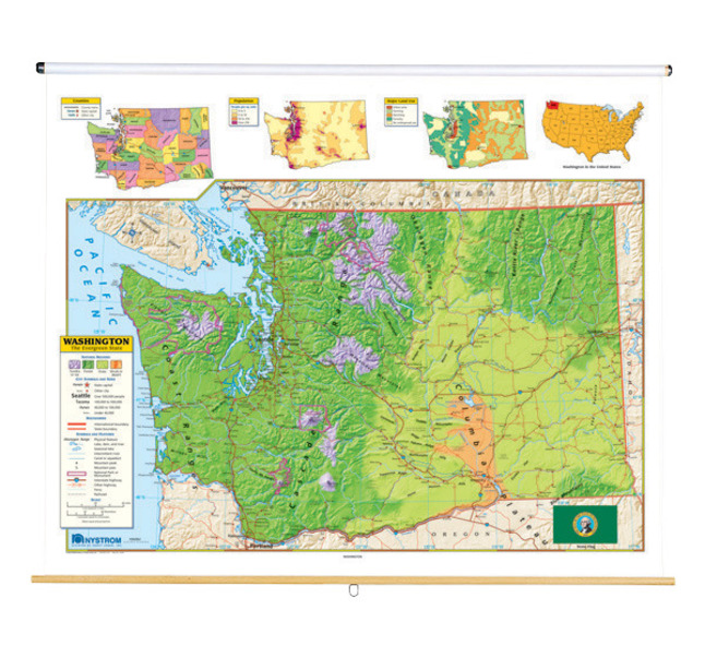 Nystrom Washington State Map