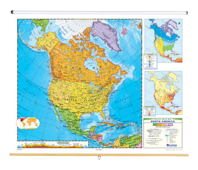 Nystrom Political Relief Map, North America