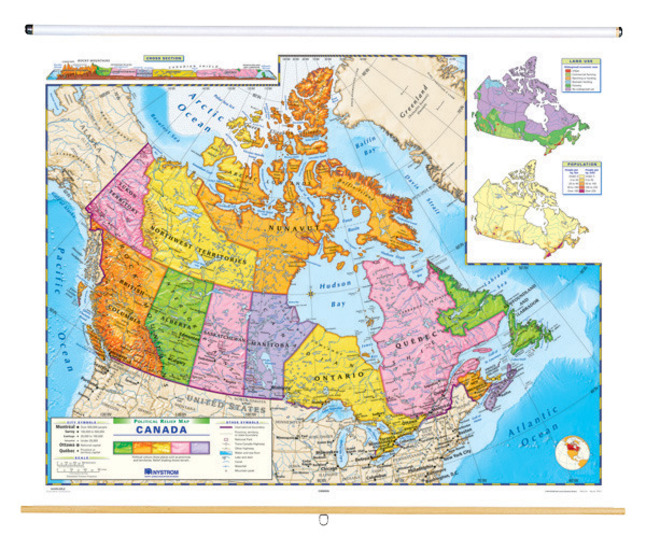 Canada Relief Map Nystrom Political Relief Map, Canada