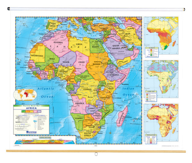 Map Of Africa Political.Nystrom Political Relief Map Africa