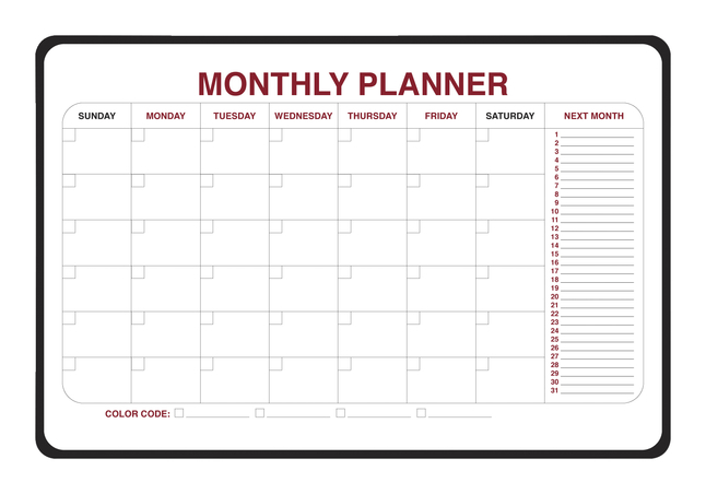 Planner Boards, Item Number 1399718