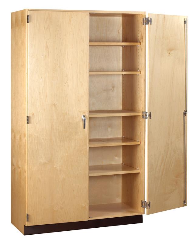 Diversified Woodcrafts GSC-8 General Storage Cabinet 5 Shelves 48 Width x 84 Height x 22 Depth