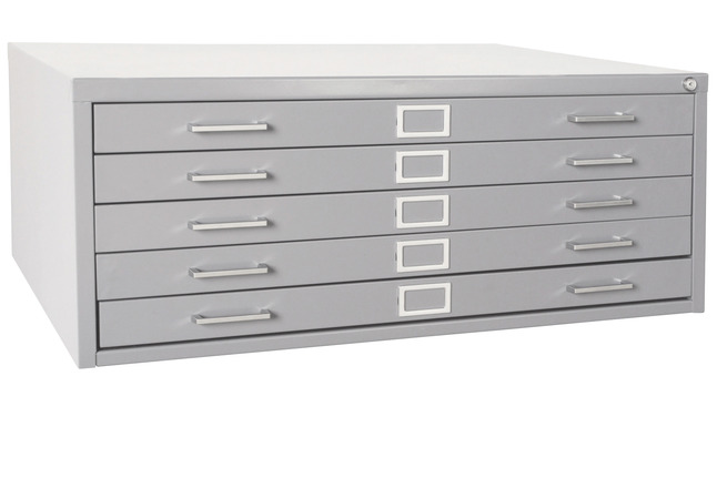 watch da5d3 e665f Sandusky Lee Medium 5-Drawers Flat File Cabinet, 46-3/4 x 35-3/8 x 16-1/8  Inches, Various Options