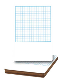 Flipside Graph Grid Dry Erase Board, 11 x 16 Inches, Pack of 12 Item Number 1401880