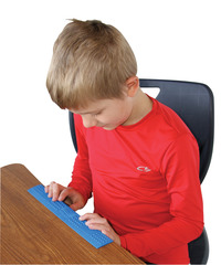 Sensory University Desk Buddy Multi-Textured Chewable Ruler, Assorted Colors Item Number 1410033