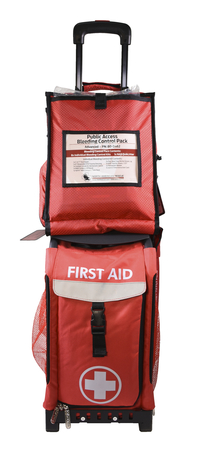 MobileAid Trauma First Aid Station, Hi-Vis, Easy-Roll Item Number 1410383