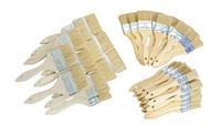 Jack Richeson Standard White Bristle Utility Brush Assortment, Assorted Size, Set of 48 Item Number 1412628